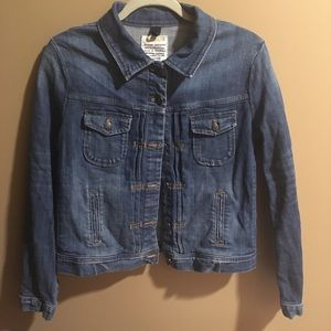 J Crew Denim Jacket With Pockets